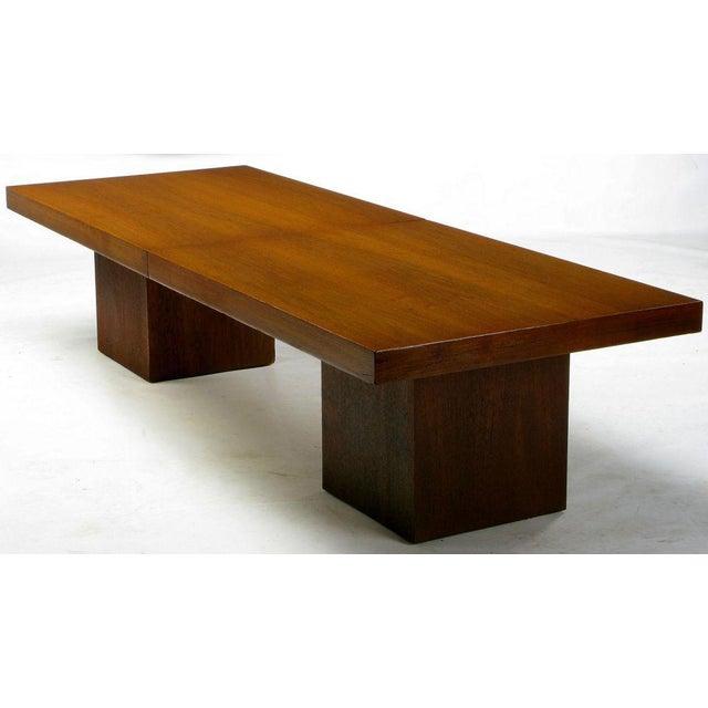 Walnut & Micarta Expanding Top Coffee Table By John Keal - Image 5 of 7