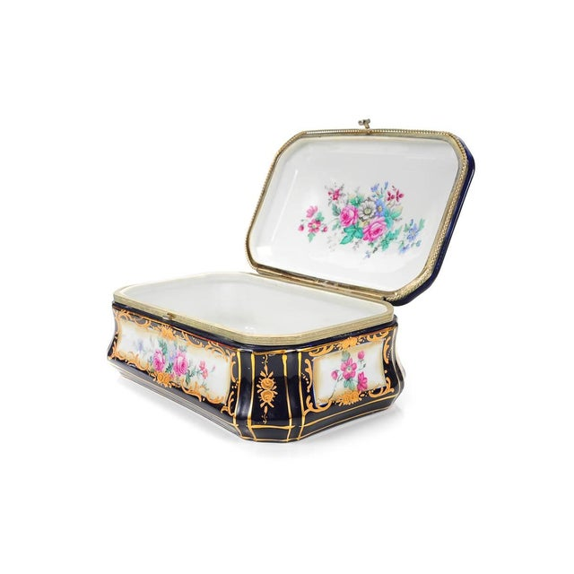 Image of German Painted Porcelain Jewelry Box