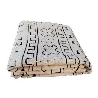 Black & White Malian Mud Cloth Textile