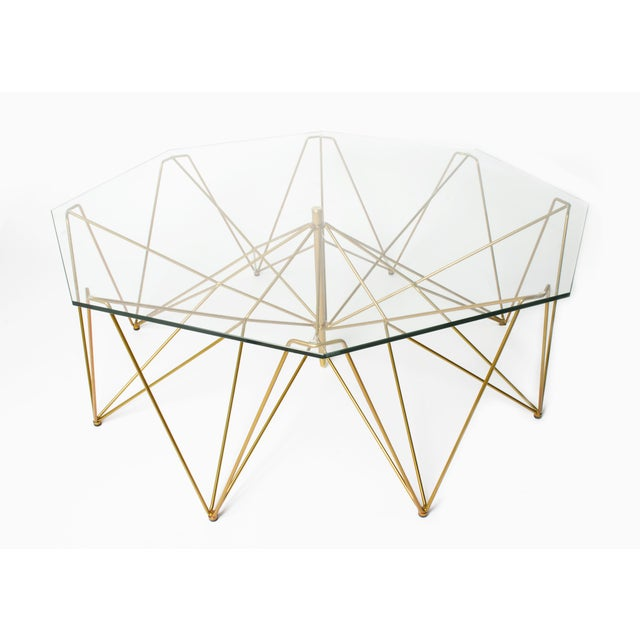 Image of Sculptural Metal Coffee Table