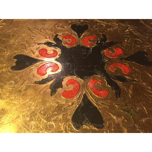 Image of Florentine Round Gilt Tray