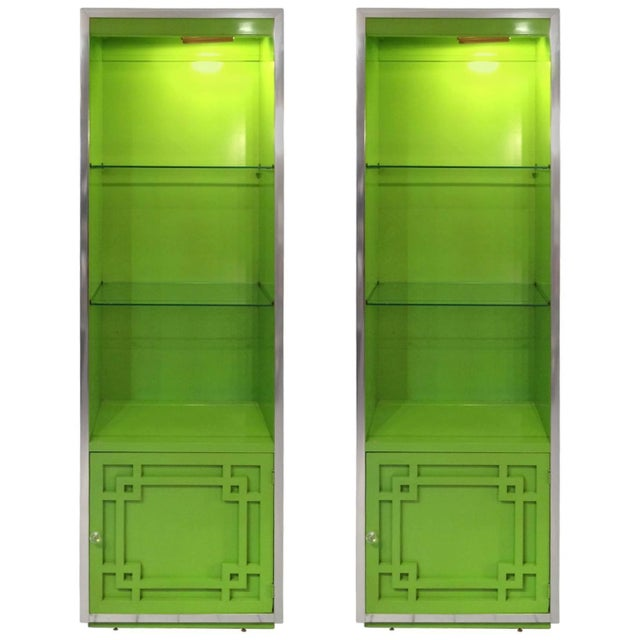 Thomasville Mid-Century Laquer Cabinets - Pair - Image 1 of 9