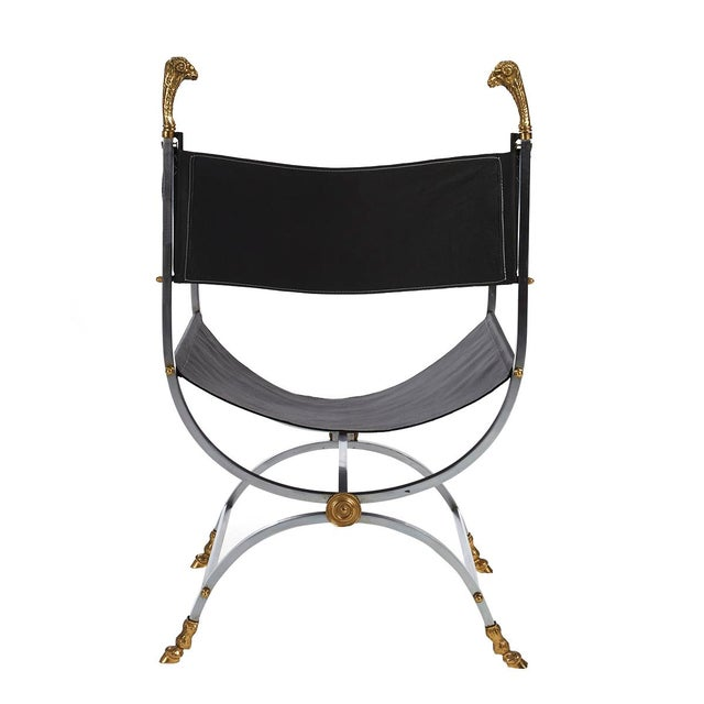 Maison Jansen Savonarola Chair - Image 3 of 3