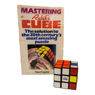 Vintage 1981 Original Rubik's Cube With Manual