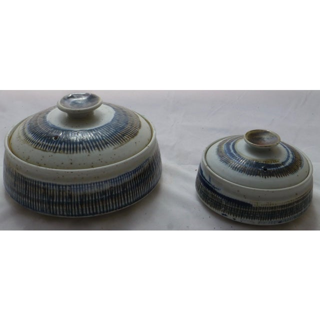Japanese Studio Pottery Covered Bowls ~ Pair - Image 2 of 11