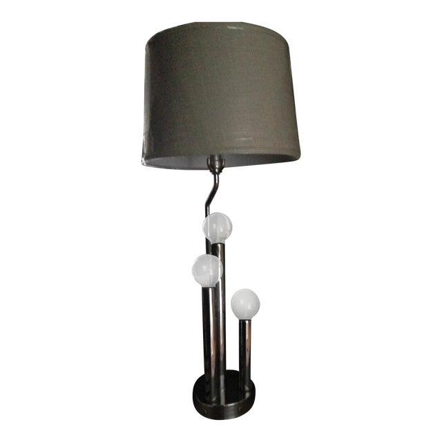 Image of Vintage Mid-Century Modern Chrome Table Lamp