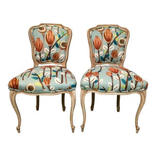 French Provincial Side Chairs - A Pair