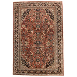 Hand-Knotted Persian Mahal Rug - 7′ × 10′5″