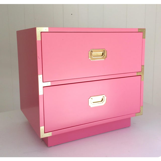 Dixie Vintage Campaign Nightstand in True Pink - Image 4 of 4