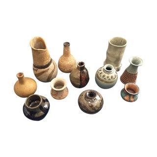 Vintage 70s Pottery Vases - Set of 11