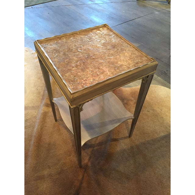 Transitional Mica Top Accent Table - Image 2 of 4