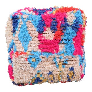 Moroccan Pink & Blue Floor Pillow