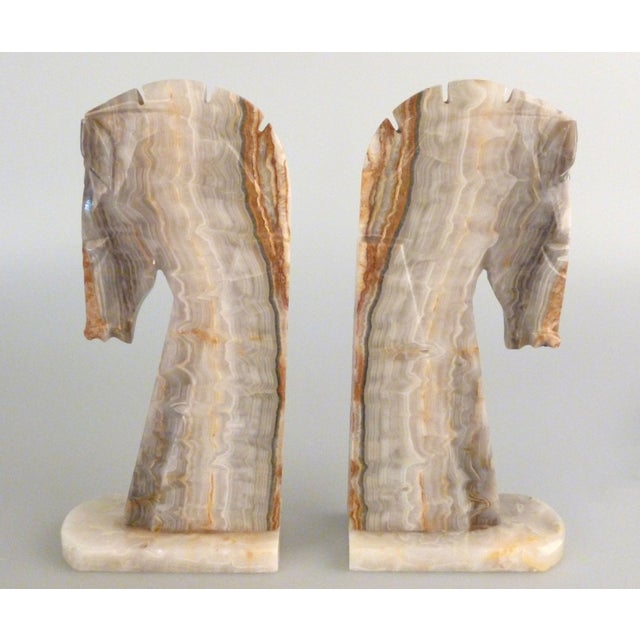 Handmade Onyx Horse Bookends - A Pair - Image 8 of 9