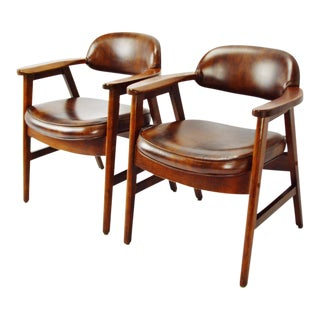 Mid Century Paoli Arm Chairs - A Pair