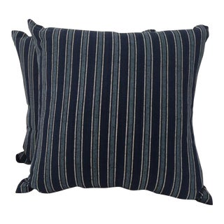 Ralph Lauren Bungalow Striped Navy Pillow Cases - a Pair