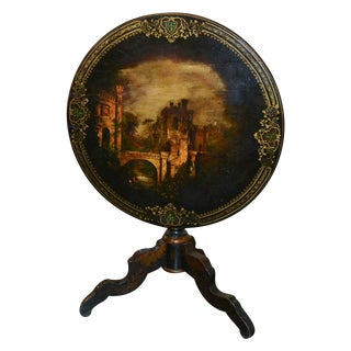 19th C. English Painted Center Table