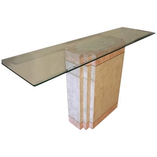 Maitland Smith Tessellated Stone Console