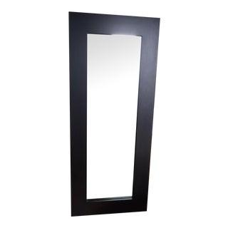 Framed Wood Floor Mirror