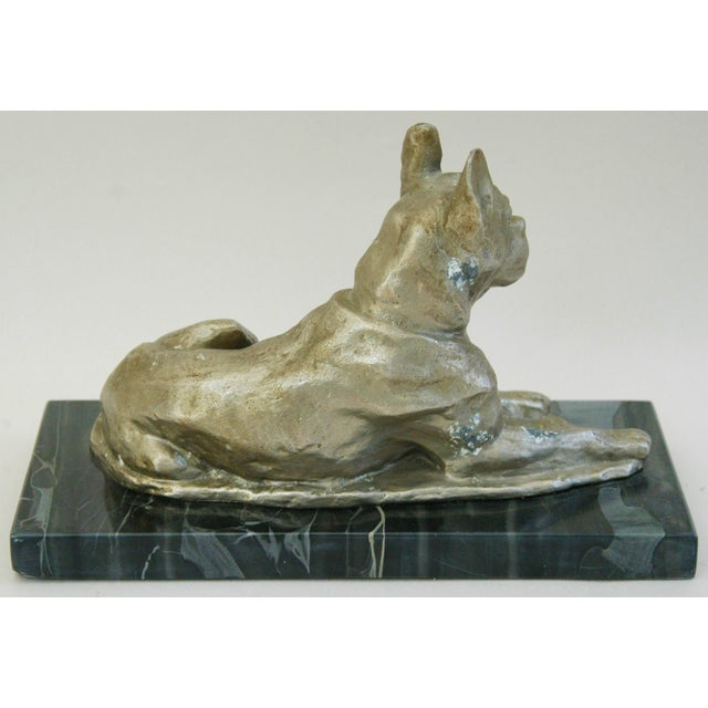1950's Cast Metal Dog on Marble Base - Image 8 of 10