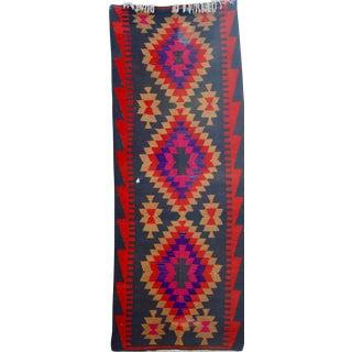 Vintage Handmade Persian Pink Kilim Rug - 3'10'' X 9'7