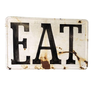 Eat Folk Art Sign