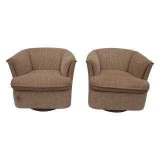 Barrell Back Club Chairs - Pair