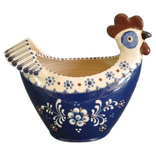 1960s Studio Pottery Rooster Vessel