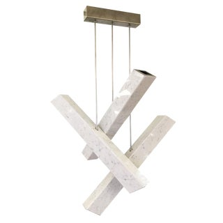 "Customizable ""Ares"" Contemporary Carrara Marble Chandelier"
