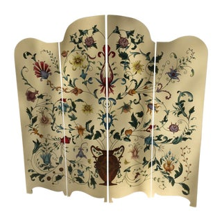 French Hand Painted Screen
