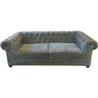 Blue Chesterfield Sofas - A Pair