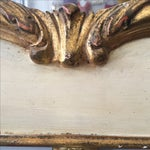 Image of Hand Painted Italian Rococo Gilded Mirror