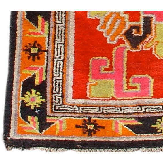 Vivid Chinese Turkestan Yarkand Rug - Image 1 of 3