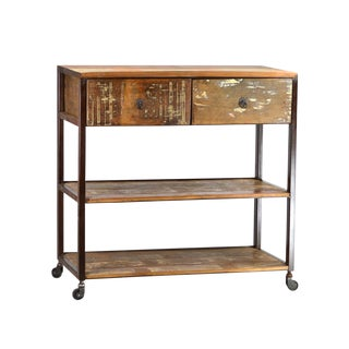 Reclaimed Wood and Iron Console