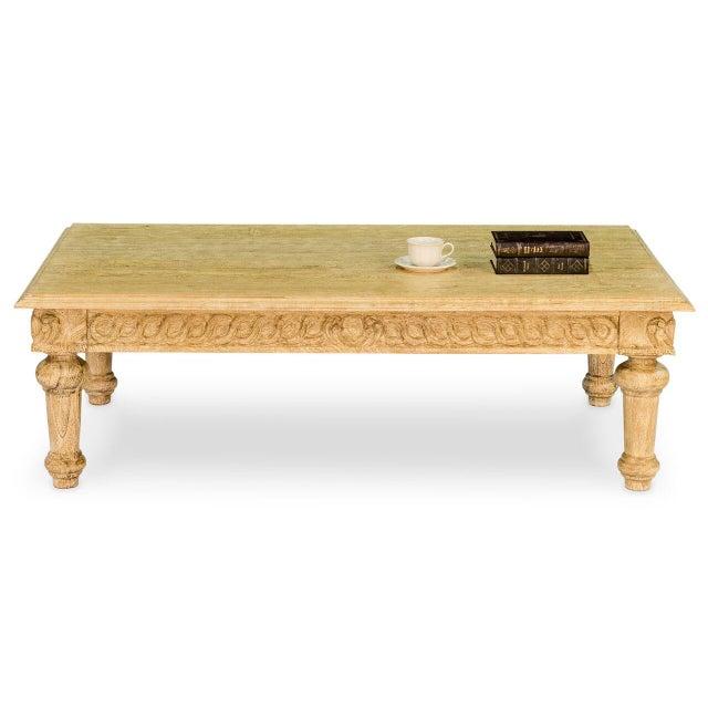 Artisan Mango Wood Coffee Table - Image 5 of 9