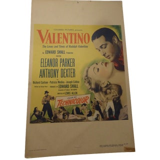 1950s Valentino Movie Lobby Card