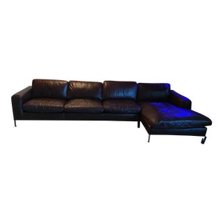 Leather Sectional Sofa & Chaise