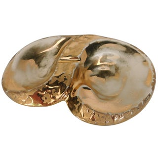 Mid-Century 24k Gilded Gold Ashtray