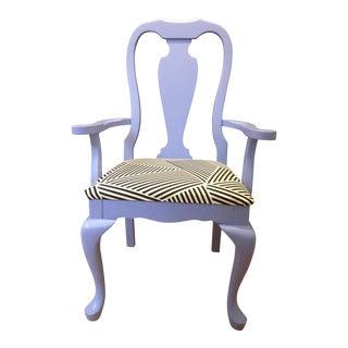 Lavender Painted Vintage Chair