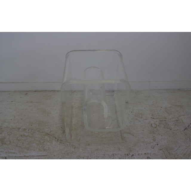 Lucite Spiral Side Table - Image 3 of 10