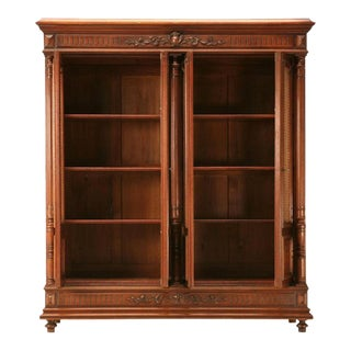 Antique French Walnut Henry II Bibliotheque Cabinet