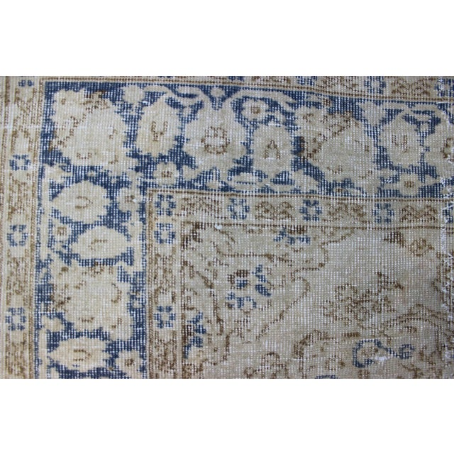 "Vintage Turkish Over-Dyed Cream Rug - 6'7"" x 9'7"" - Image 6 of 8"