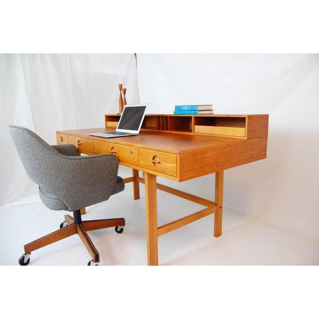 Peter Lovig Nielsen Danish Modern Flip Top Teak Desk