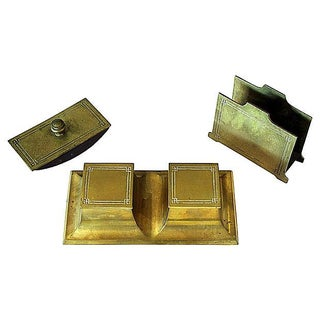 Bradley & Hubbard Brass Desk Set