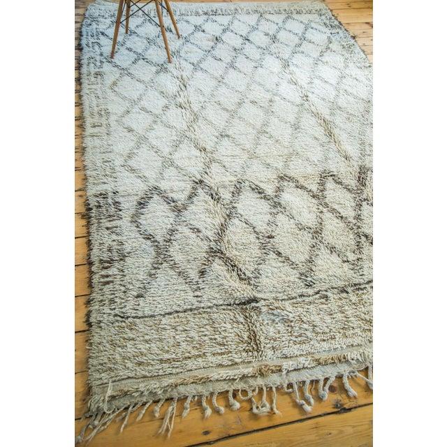 "Vintage Moroccan Carpet - 6'4"" x 10' - Image 4 of 6"