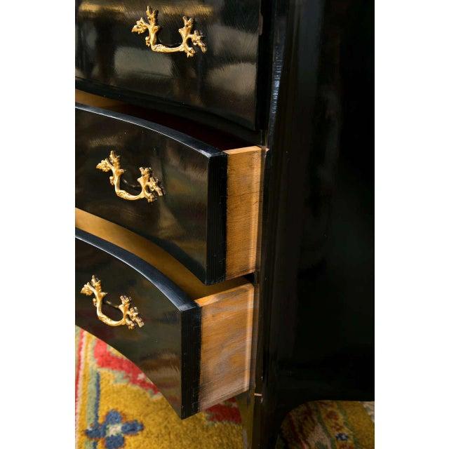 French Louis XV Style Ebonized Commode - Image 7 of 8