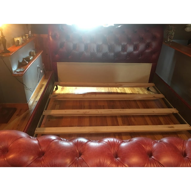 Grange King Leather Sleigh Bed - Image 2 of 8