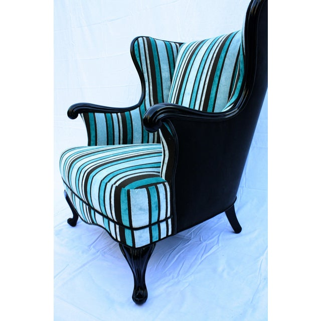 Vintage Round Wing Back Chair - Image 4 of 7