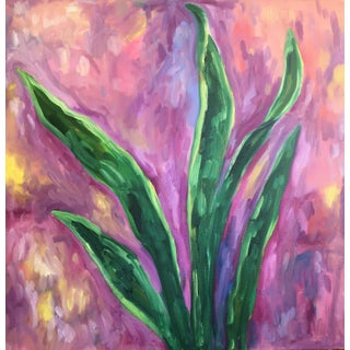 Kelly Witmer Modern Vibrant Houseplant Painting