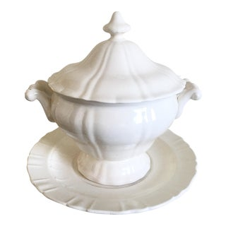 French Country Baroque Soup Tureen & Tray