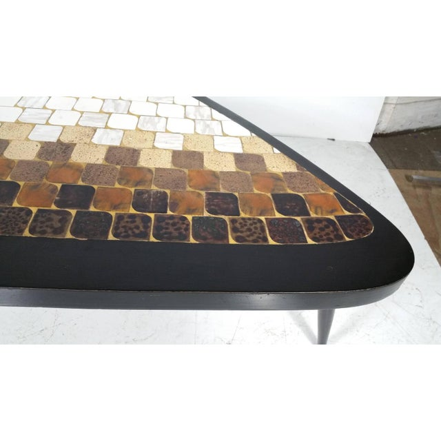 "Richard Hohenberg ""Guitar Pick"" Tile Coffee Table - Image 4 of 7"